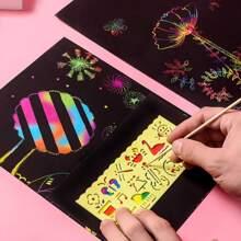 10sheets Graffiti Drawing Paper With 1set Ruler