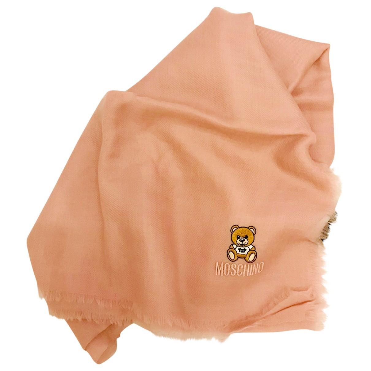 Moschino - Foulard   pour femme en cachemire - rose