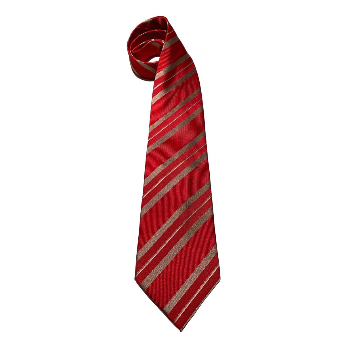 Giorgio Armani \N Krawatten in  Rot Seide