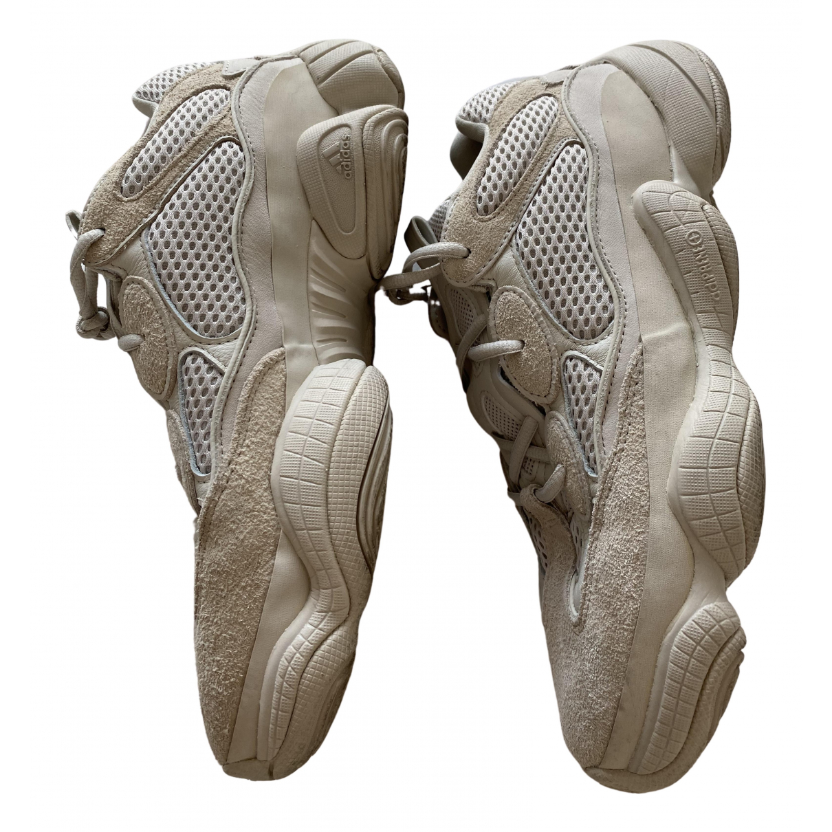 Yeezy X Adidas - Baskets 500 pour homme en suede - ecru