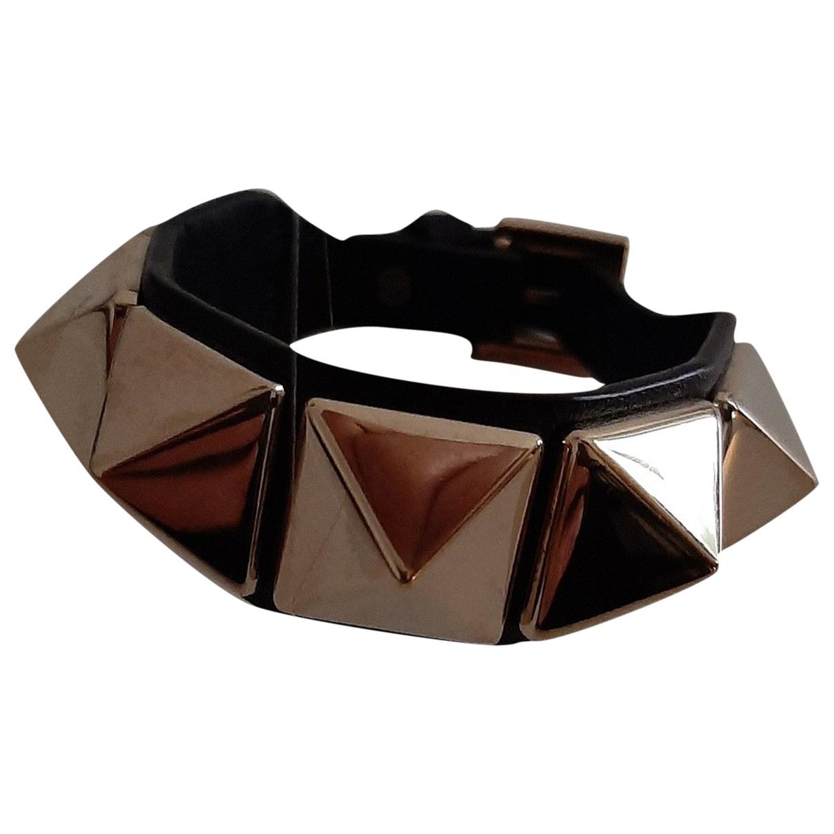 Valentino Garavani \N Armband in  Schwarz Leder