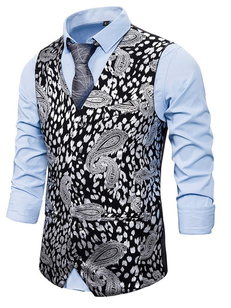 Ericdress Leopard V-Neck Print Casual Waistcoat