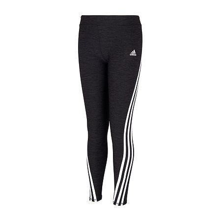 adidas Big Girls Mid Rise Full Length Leggings, X-large (16) , Black