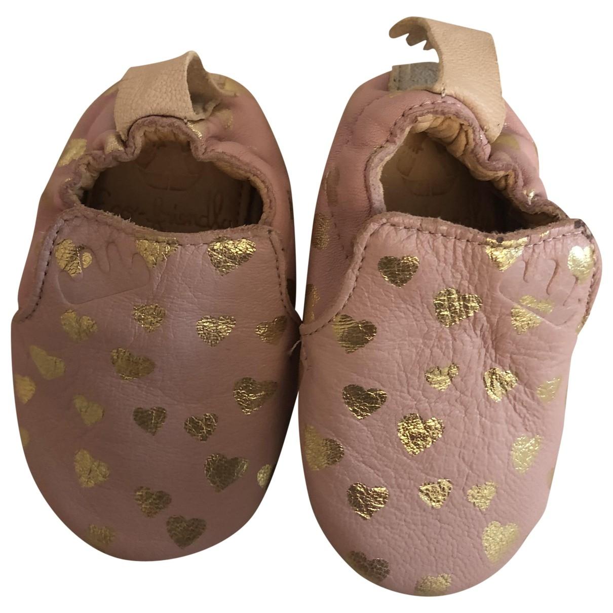 Easy Peasy - Chaussons   pour enfant en cuir - rose