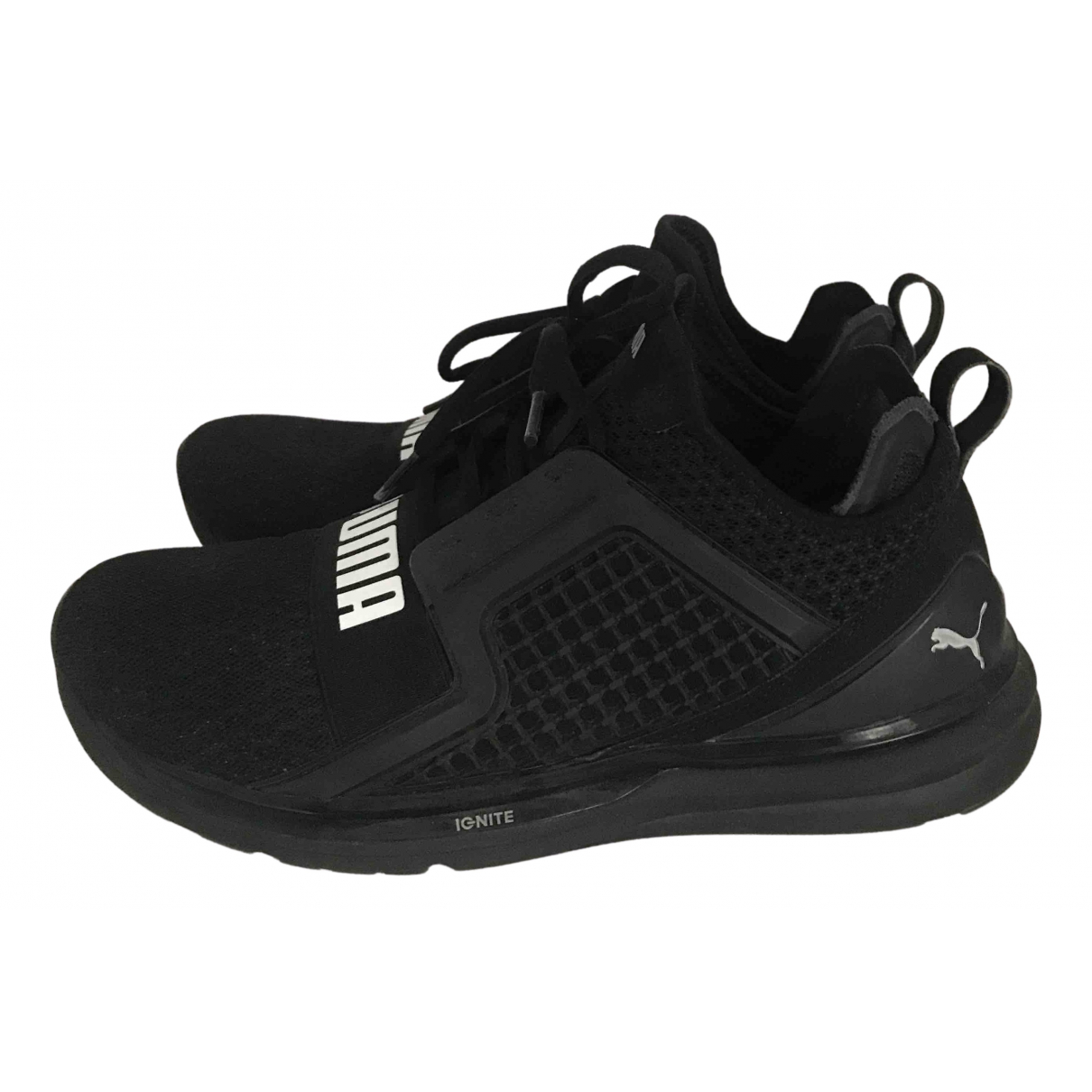 Puma N Black Cloth Trainers for Men 44 EU