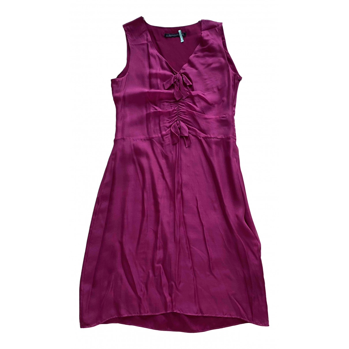Zara - Robe   pour femme en soie - violet