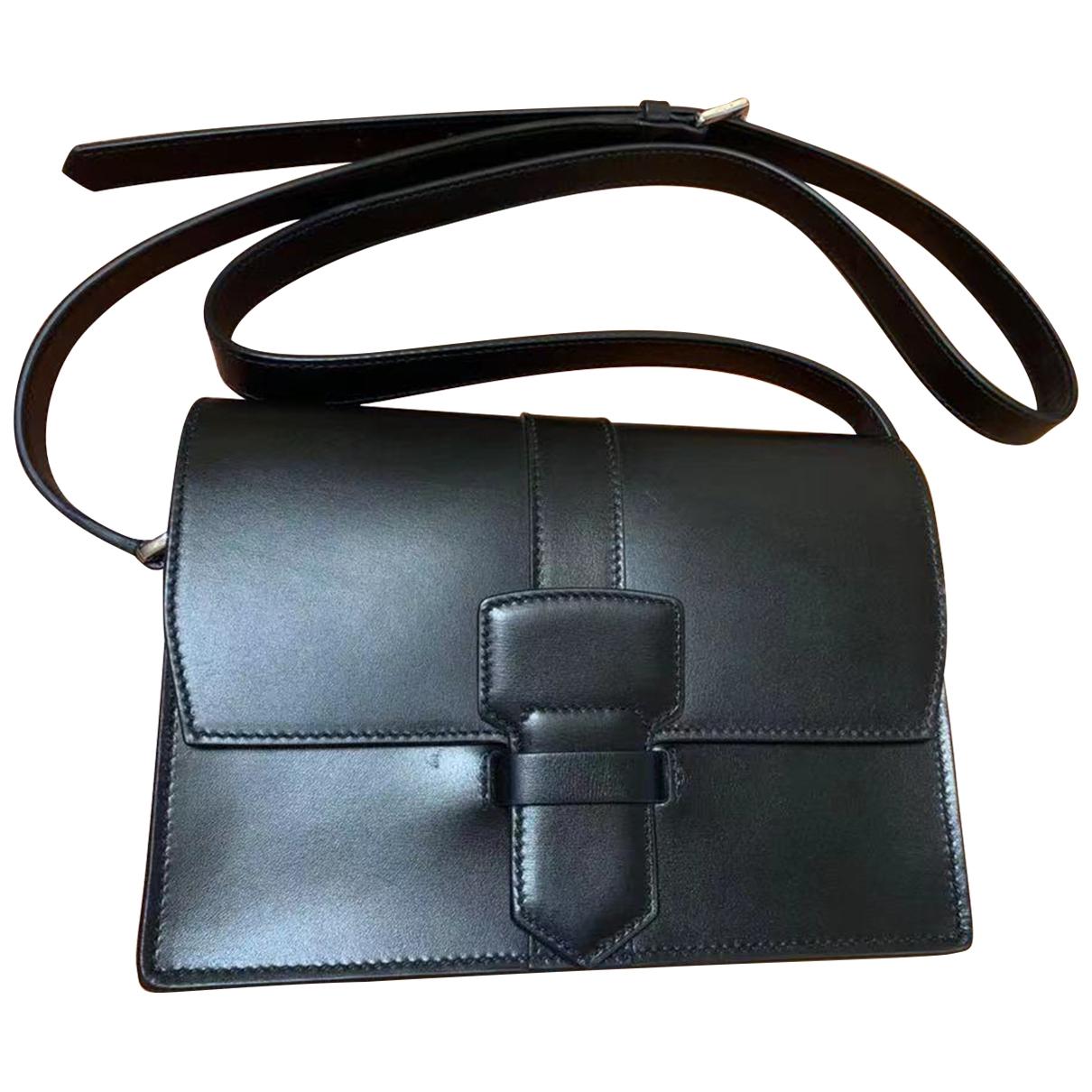 Salvatore Ferragamo - Sac a main   pour femme en cuir - noir