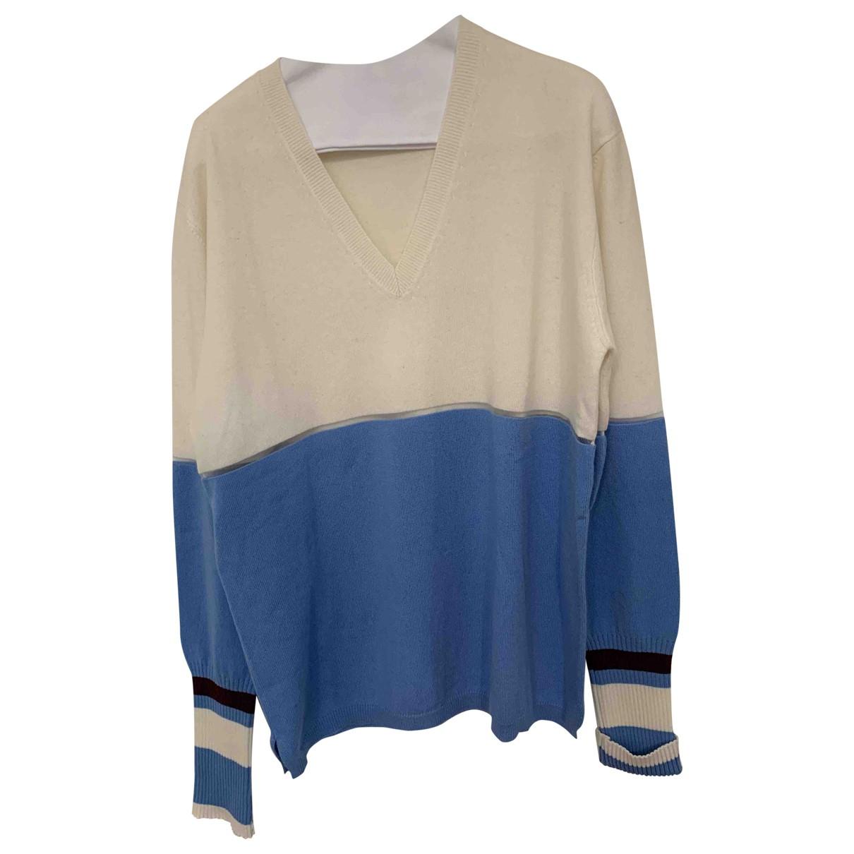 Fendi N Blue Cashmere Knitwear for Women 44 IT