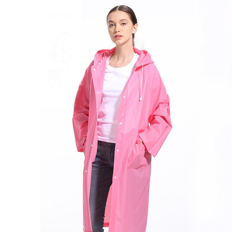 Adult Long Outdoor Travel Fashion Men and Women Lightweight Eva Transparent Raincoat