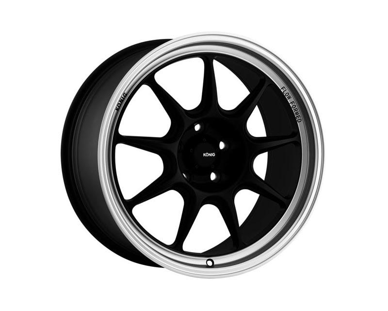 Konig Countergram Wheel 18x10.5 5x114.3 20 BKMTML Matte Black / Matte Machined LIP