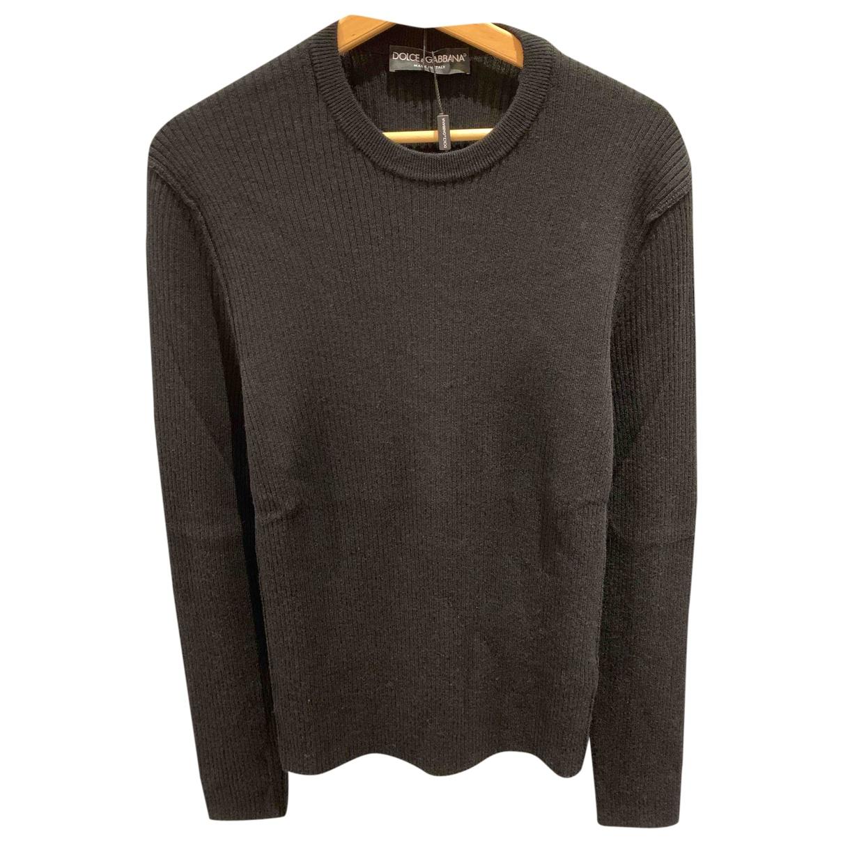 Dolce & Gabbana - Pulls.Gilets.Sweats   pour homme en laine - noir