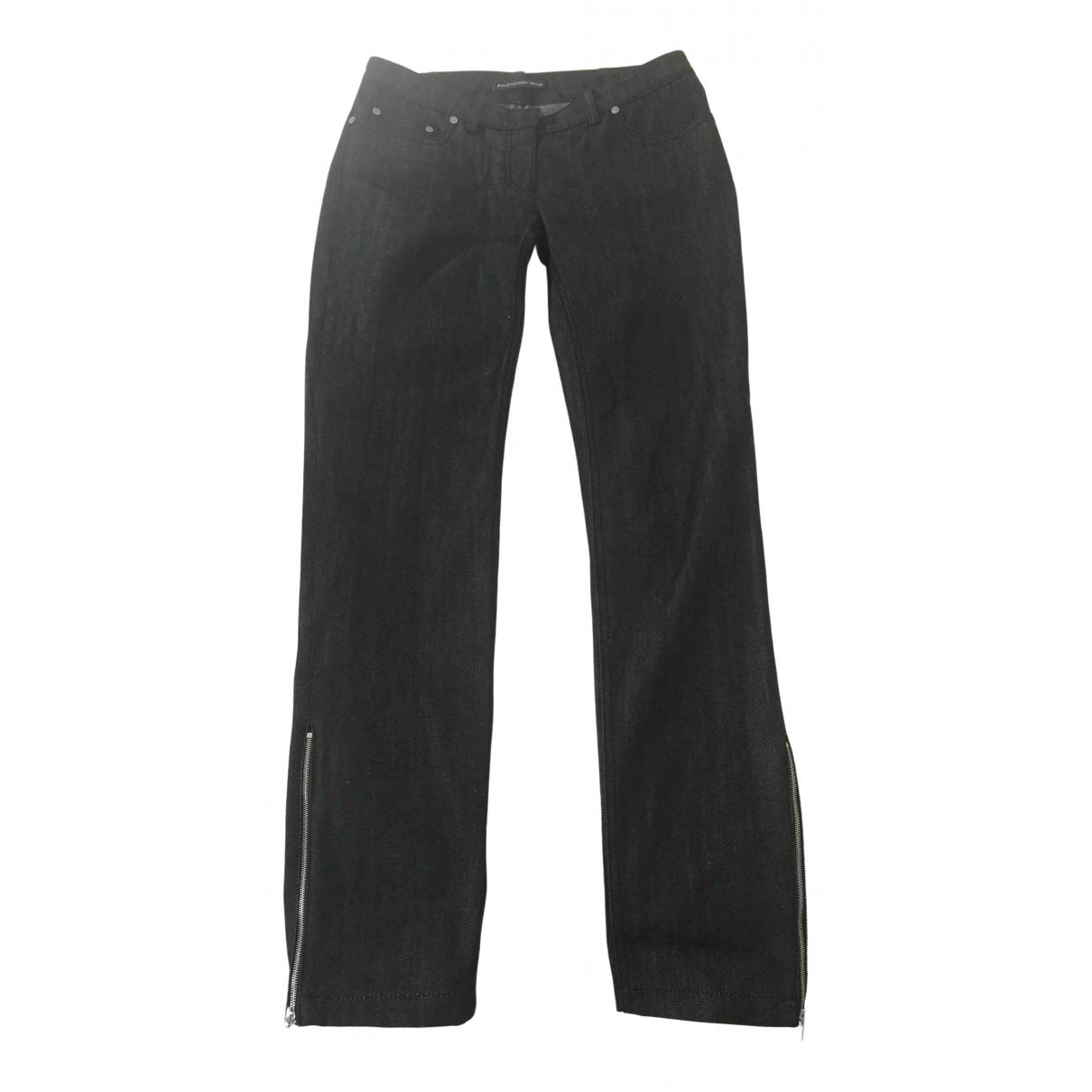 Balenciaga \N Black Denim - Jeans Trousers for Women 36 IT