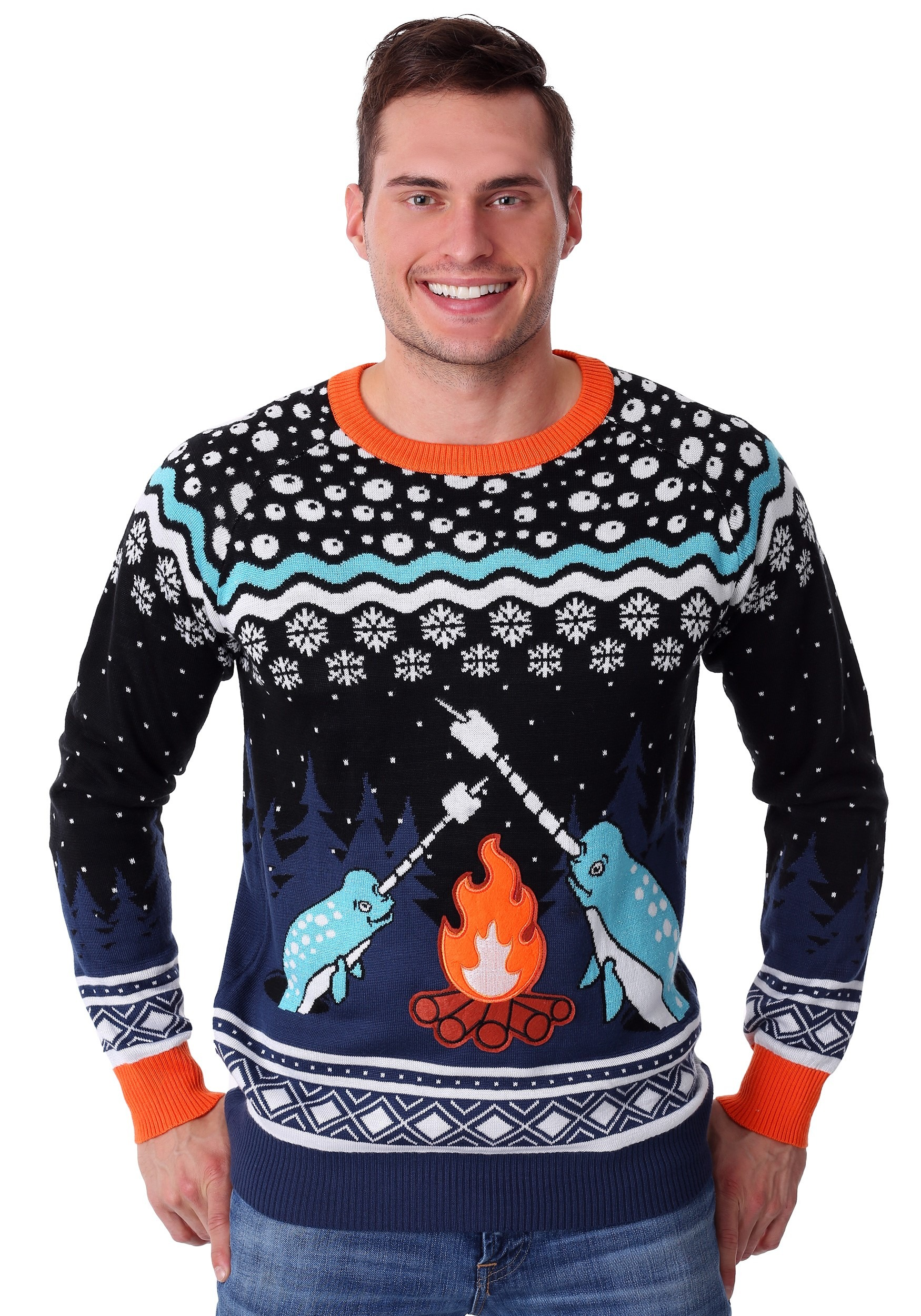 Narwhal Adult Ugly Christmas Sweater
