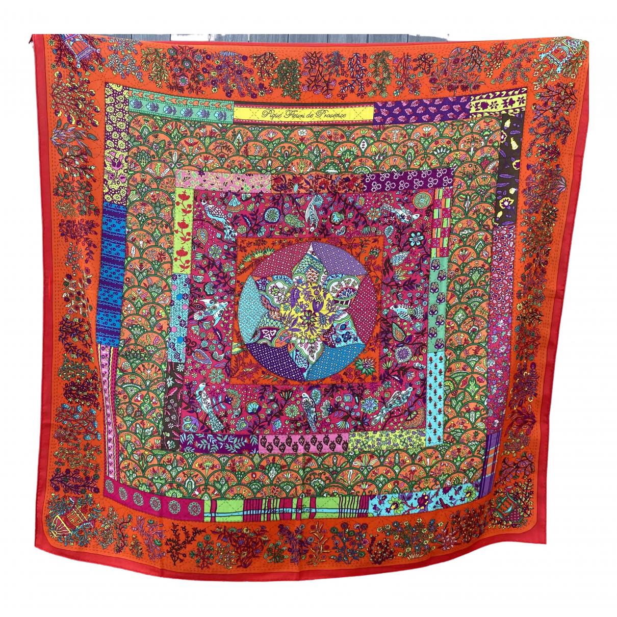 Hermes Chale 140 Schal in  Rot Kaschmir