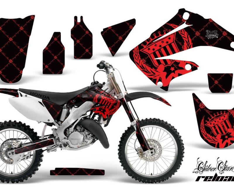 AMR Racing Dirt Bike Graphics Kit Decal Wrap For Honda CR125R   CR250R 2002-2008áRELOADED RED BLACK