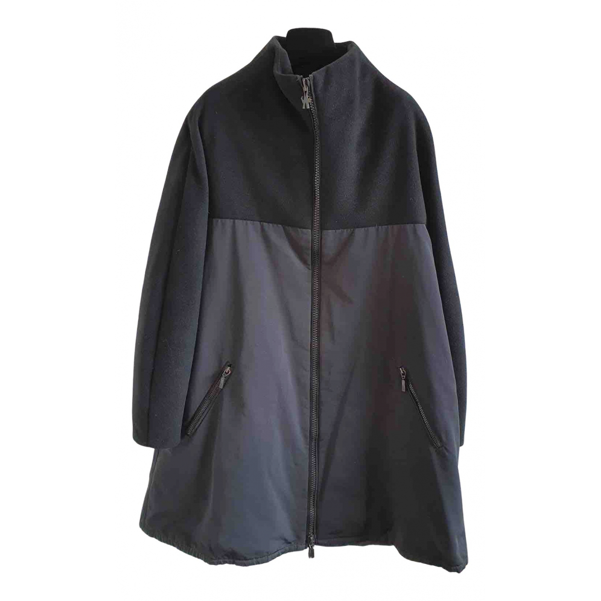 Moncler Gamme Rouge Black Wool coat for Women 2 0-5