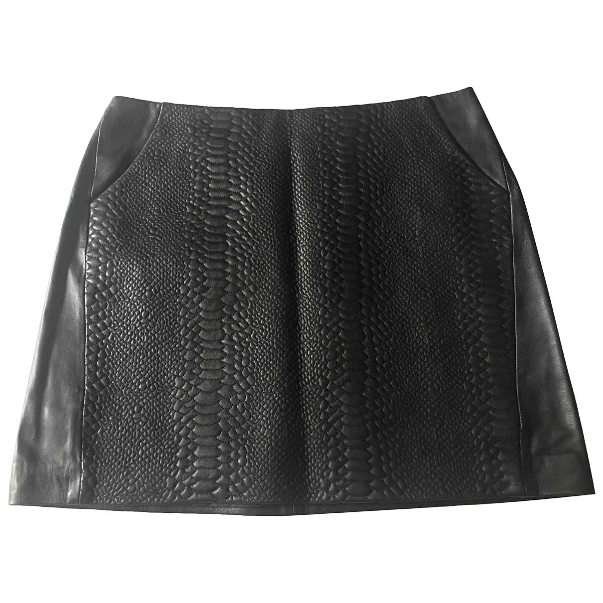 Mini falda de Cuero Zapa