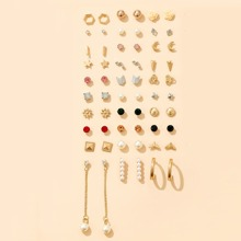 30pairs Faux Pearl Decor Earrings