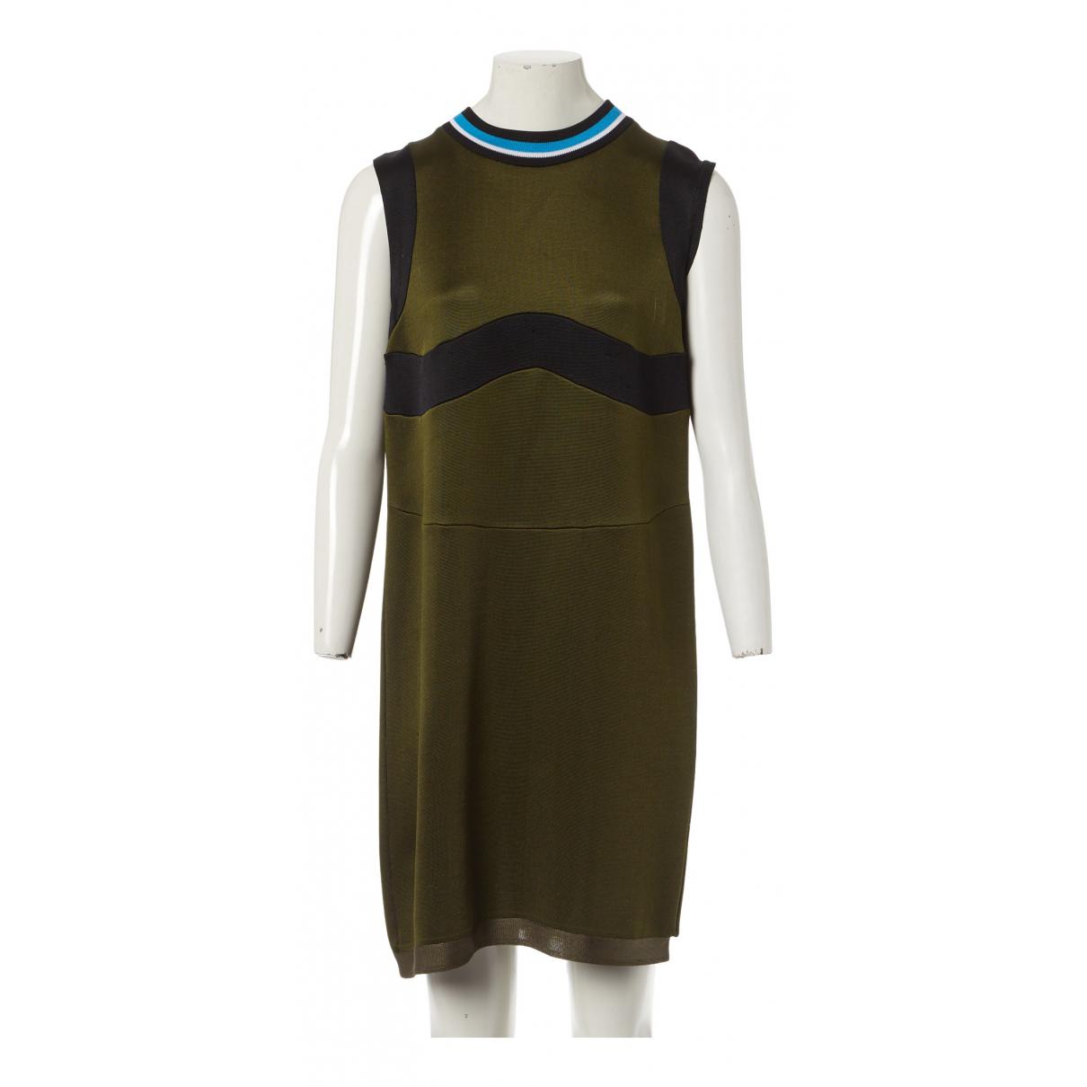 Prada \N Kleid in  Khaki Viskose