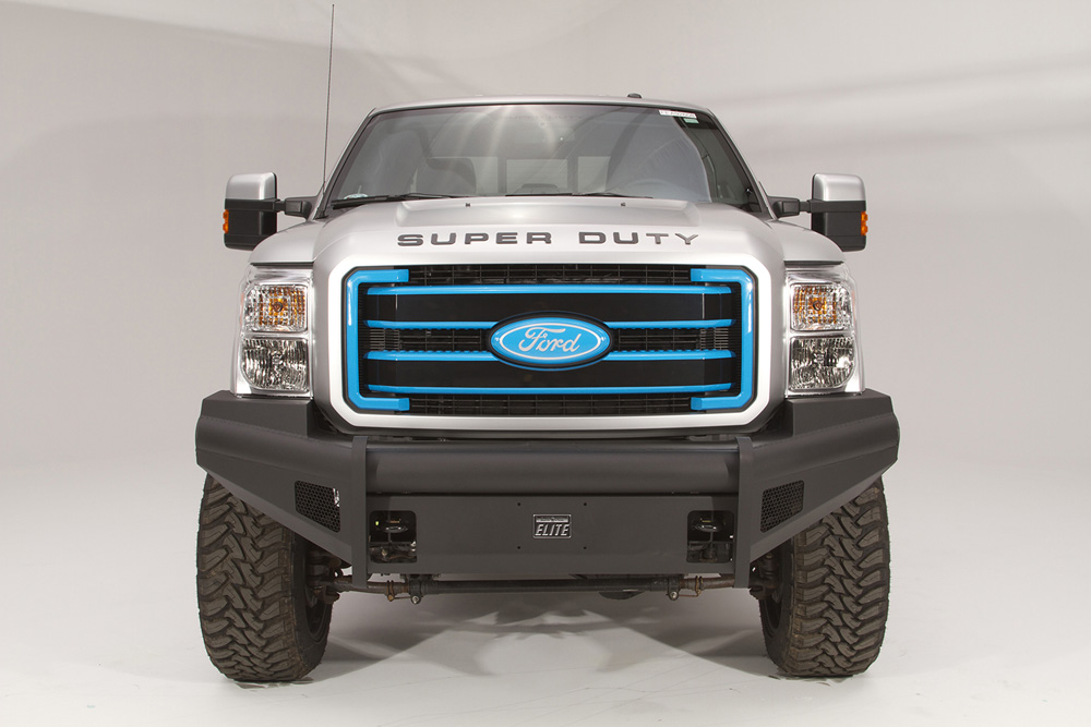 Fab Fours FS11-Q2561-1 11-16 Ford Super Duty Front Elite Ranch Bumper w/No Guard (F250 - F550) w/Tow Hooks