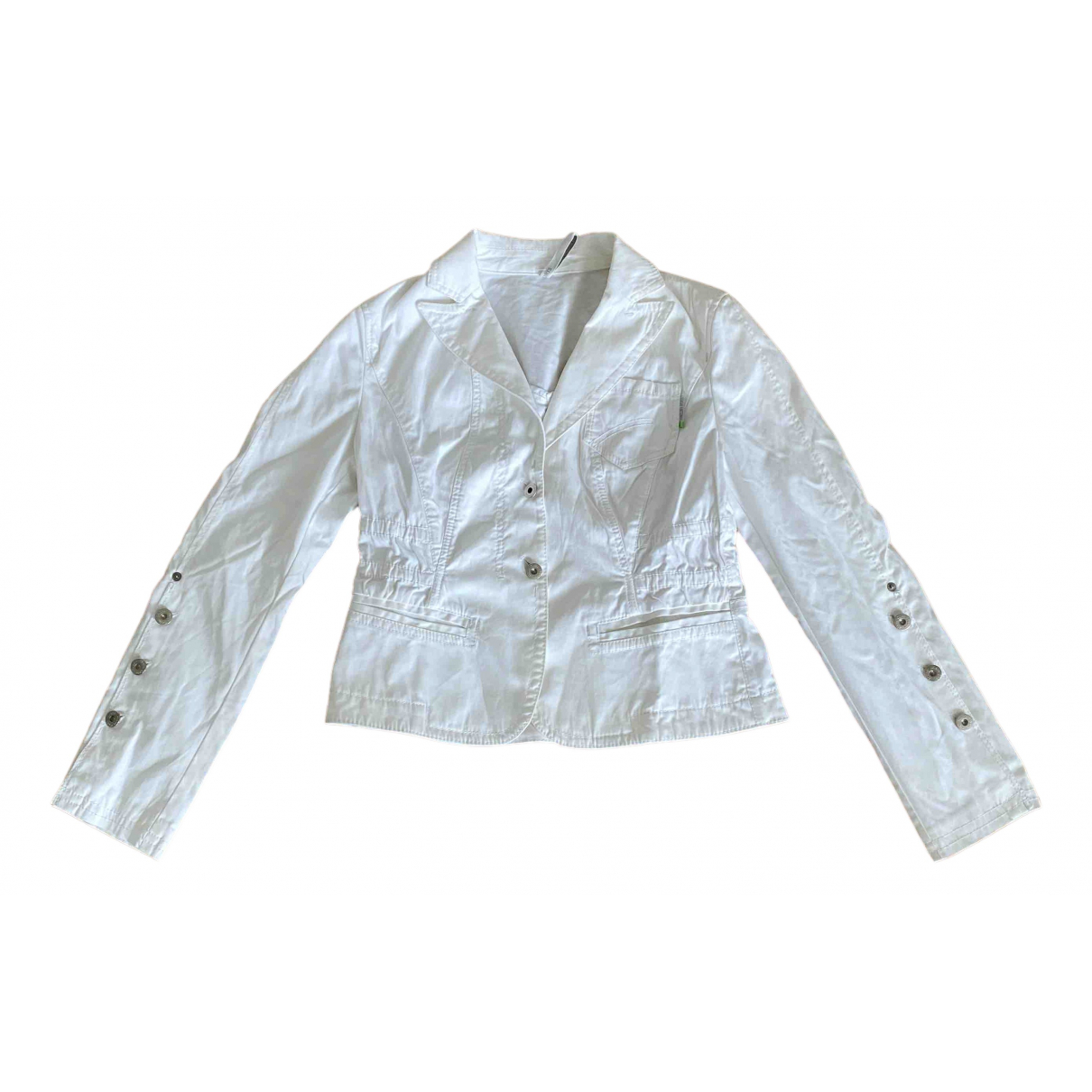 Marc Cain \N White Cotton jacket for Women 40 FR