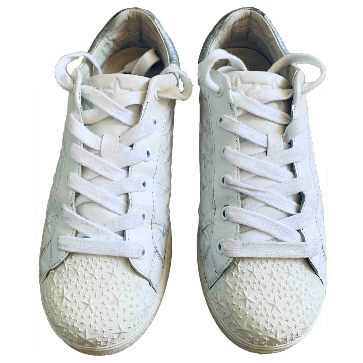 Ash \N Black Leather Trainers for Women 38 EU