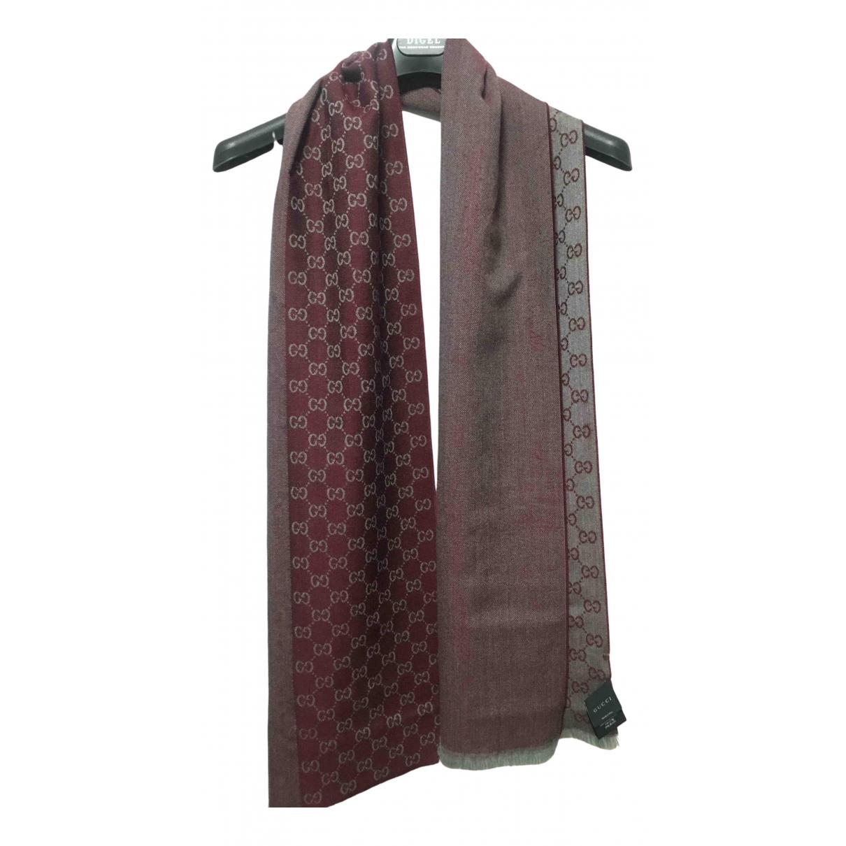 Gucci \N Burgundy Wool scarf for Women \N