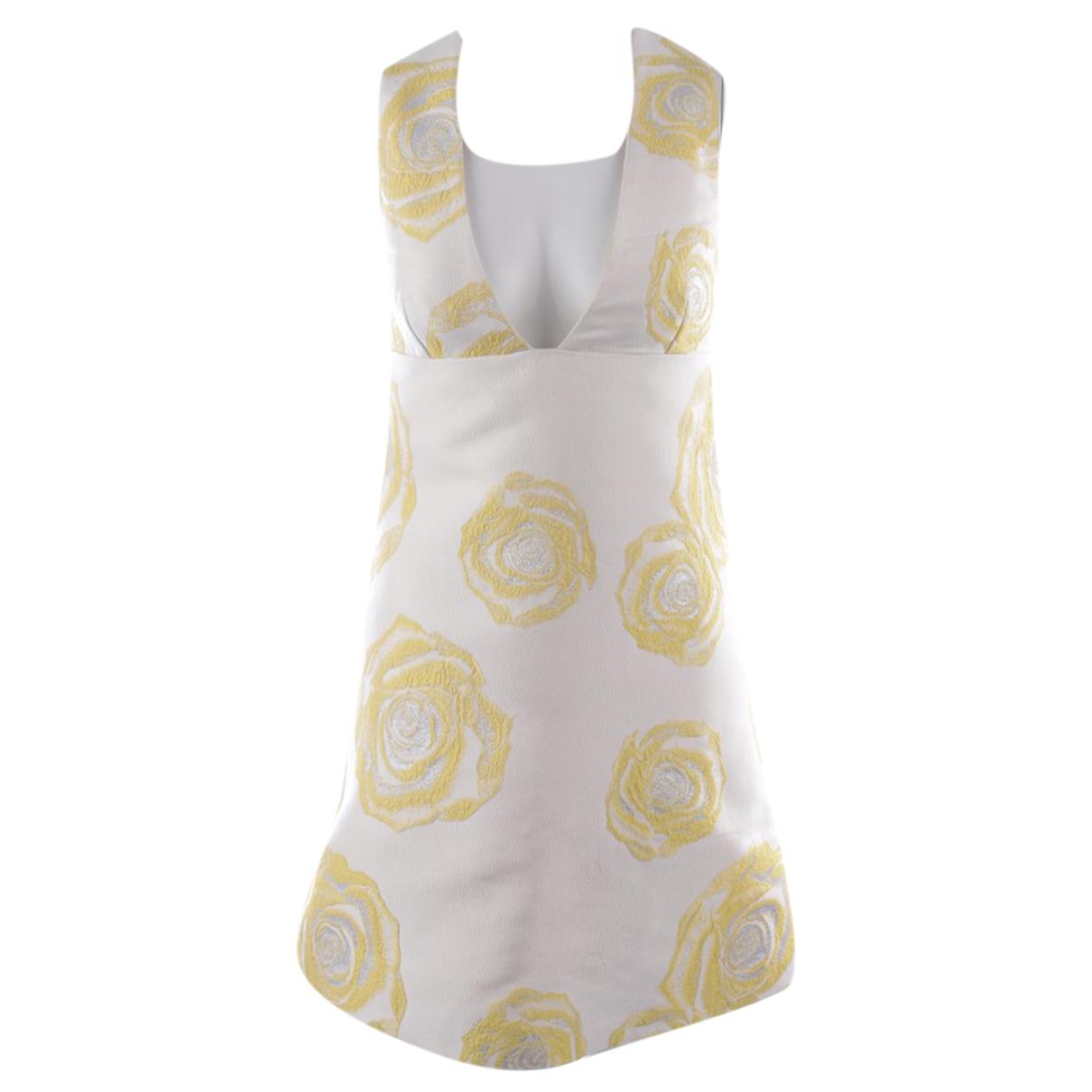 Ganni \N Kleid in  Weiss Polyester