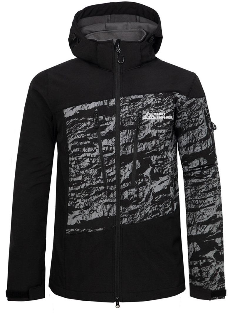 Ericdress Print Color Block Men's Slim Jacket