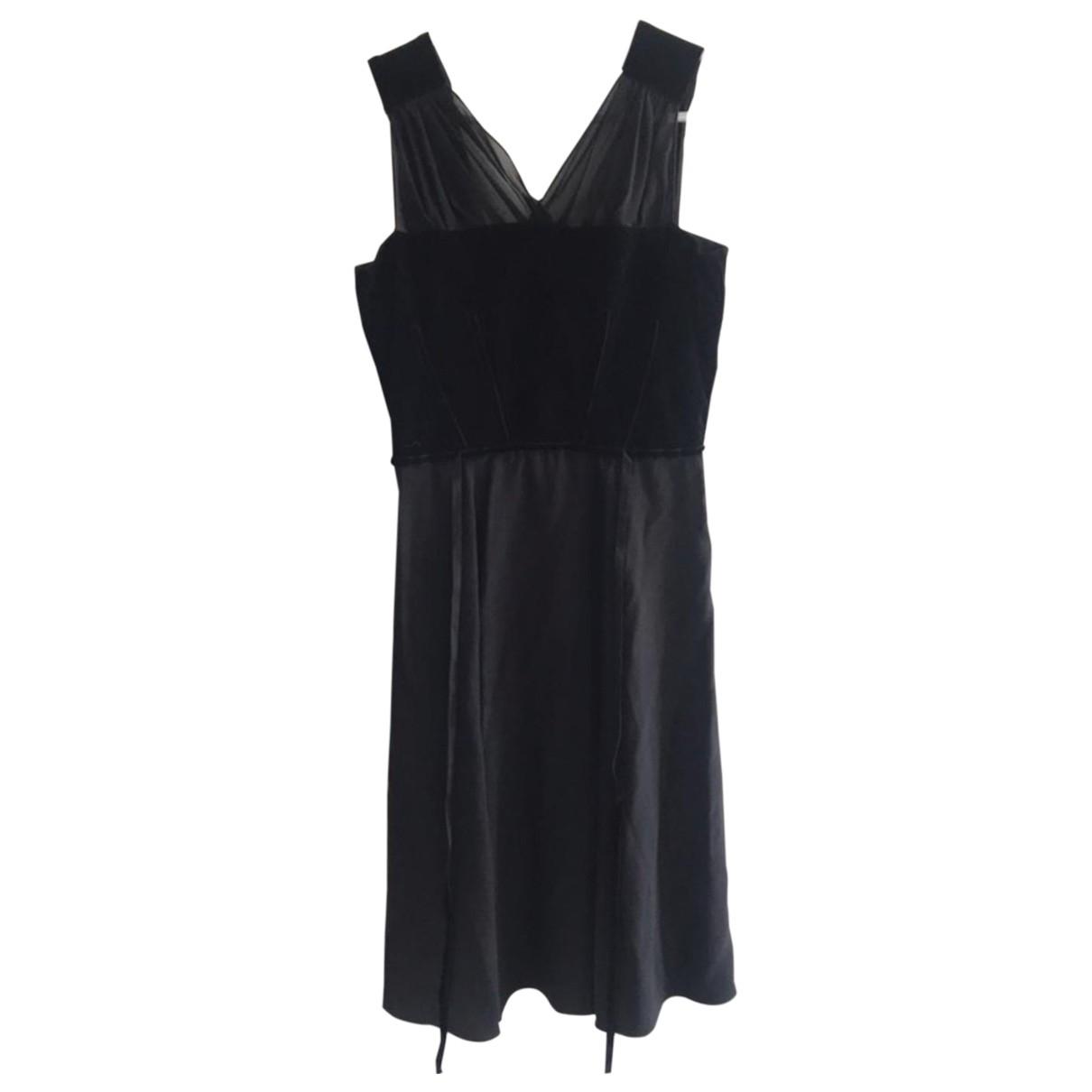 Vanessa Bruno \N Kleid in  Schwarz Samt