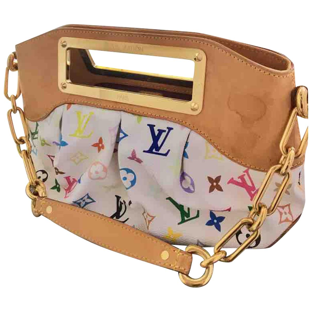 Louis Vuitton Judy Handtasche in  Weiss Leinen