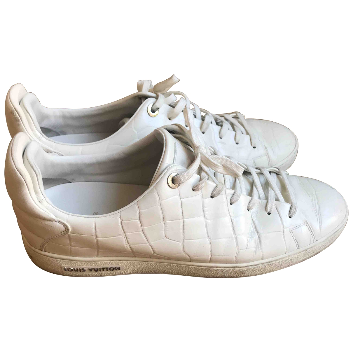 Louis Vuitton Frontrow White Leather Trainers for Men 9.5 UK