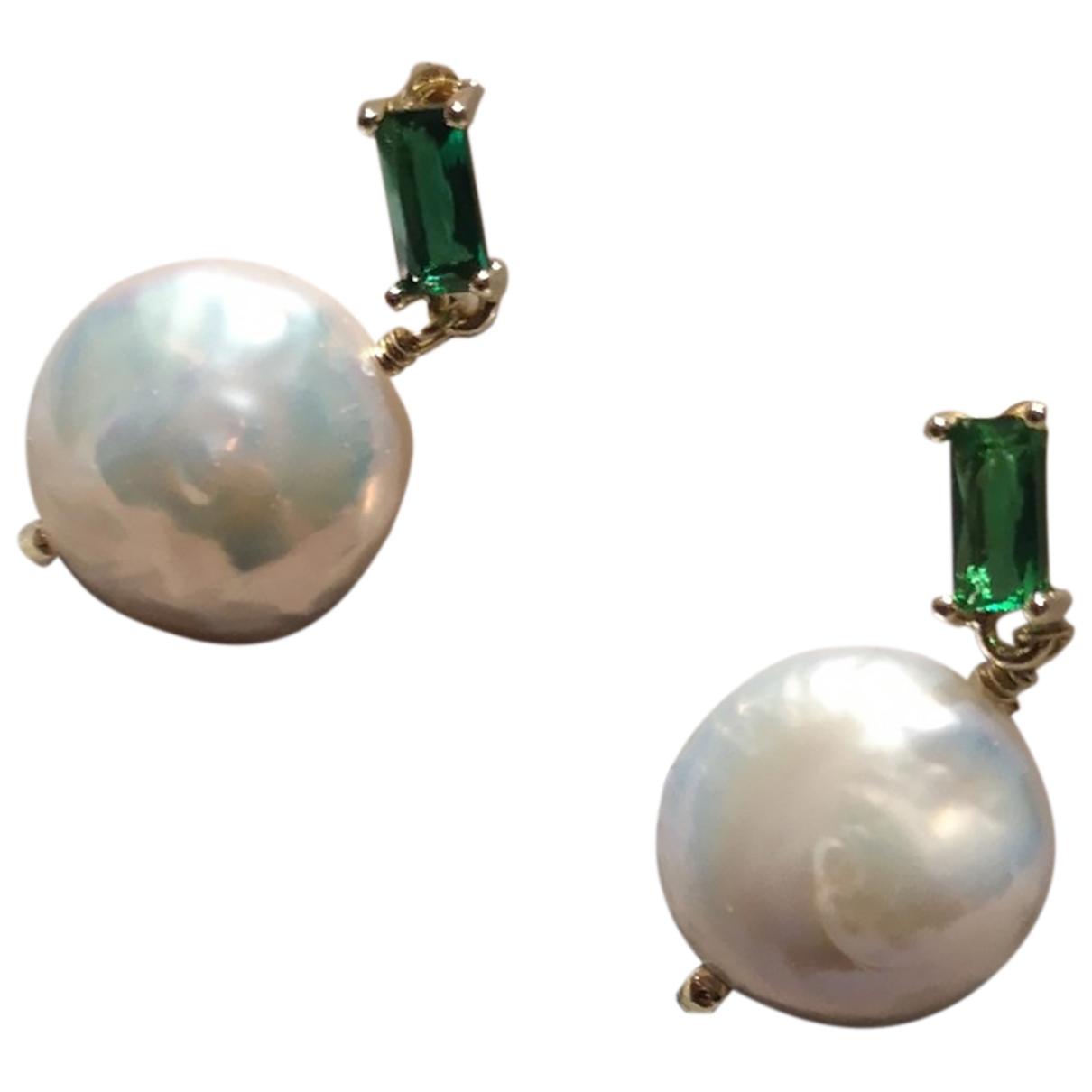 - Boucles doreilles Nacre pour femme en perles - blanc
