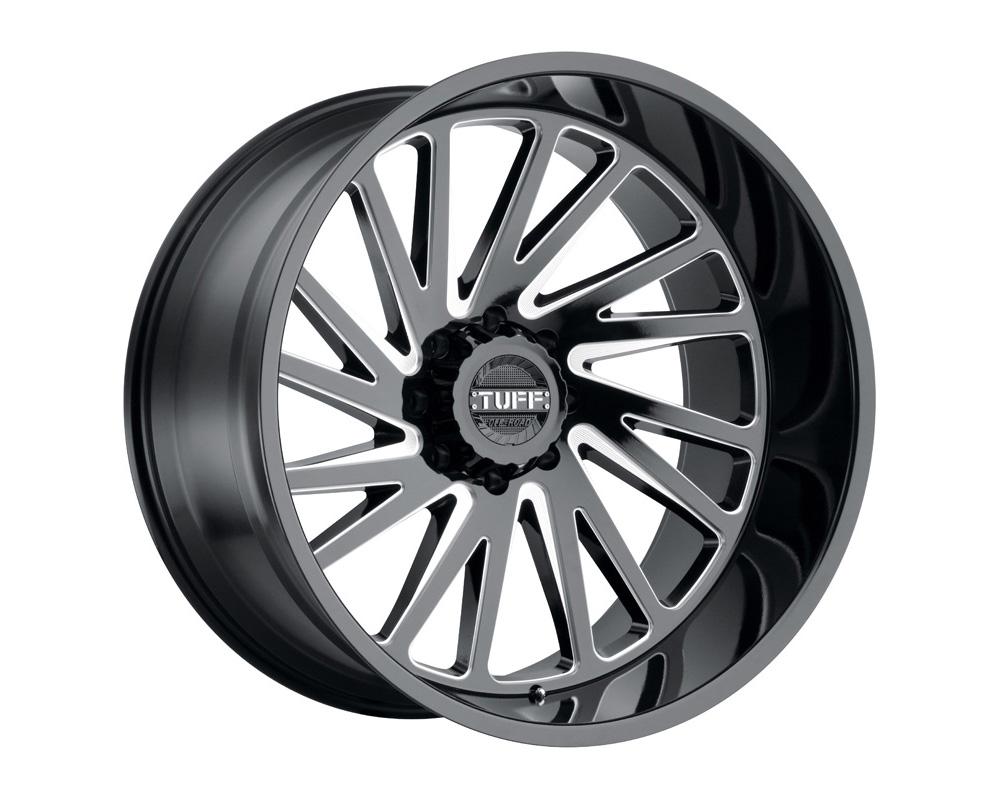 TUFF T2A Wheel 26x14 6x139.70 6x5.5 -72mm Gloss Black w/ Milled Spoke