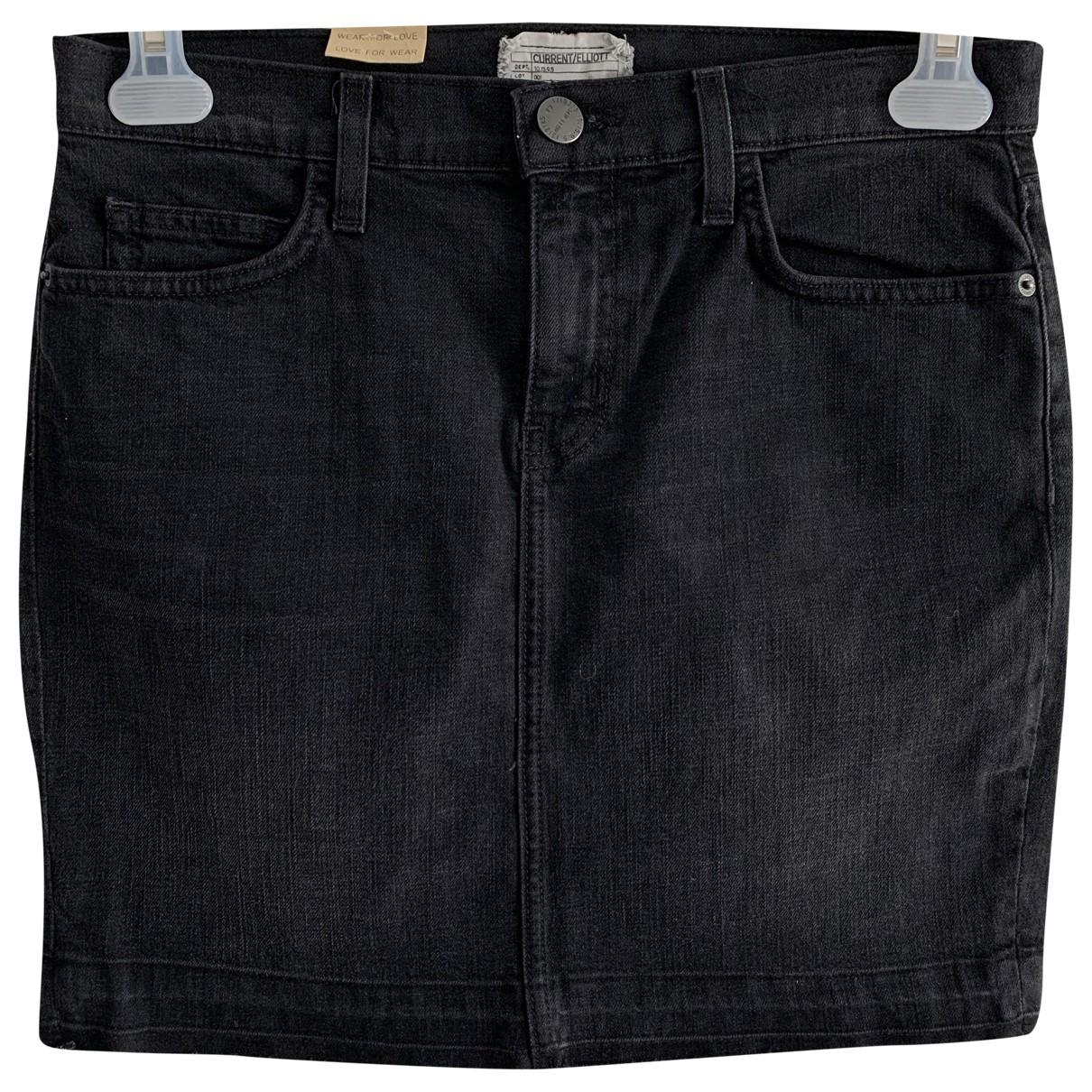 Current Elliott - Jupe   pour femme en coton - noir