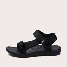 Men Open Toe Velcro Strap Sandals