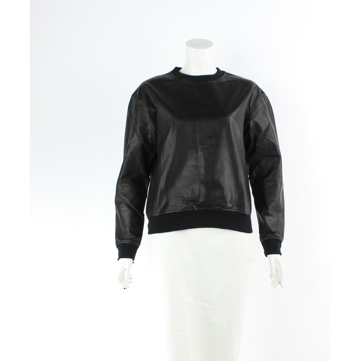 Alexander Wang - Top   pour femme en cuir - noir