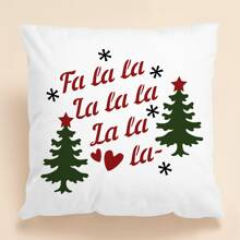 Christmas Letter Graphic Cushion Cover Without Filler