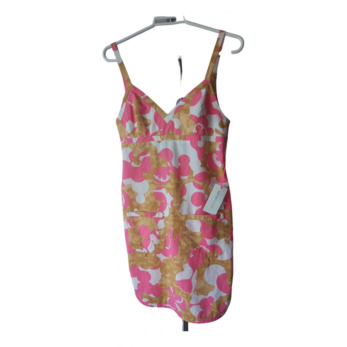 See By Chloe - Robe   pour femme en coton - elasthane - multicolore
