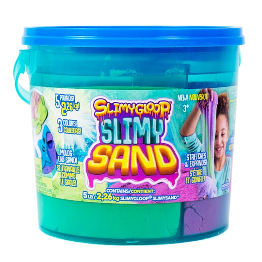Slimygloop™ Slimy Sand™ Tricolor Bucket, Blue Mold Top By Horizon Group Usa | Michaels®