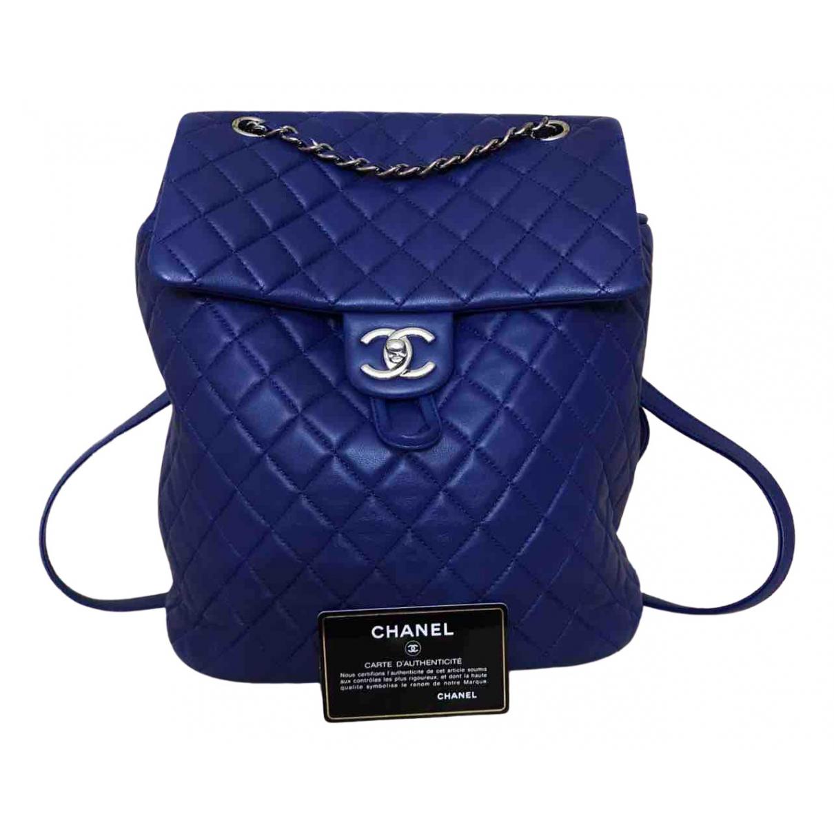 Chanel - Sac a dos Timeless/Classique pour femme en cuir - bleu