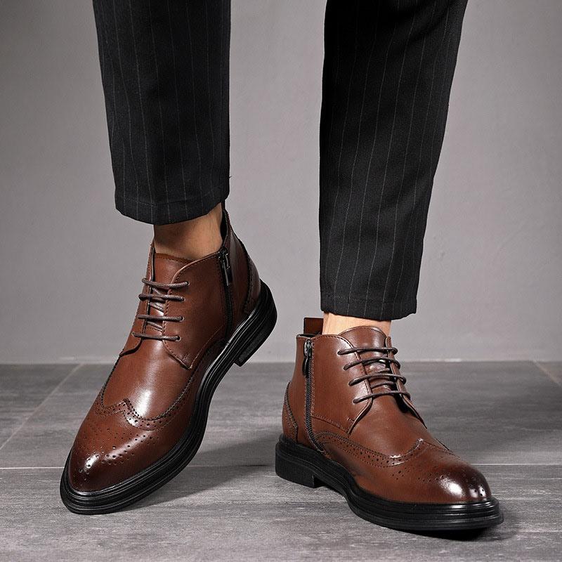 Ericdress High-Cut Upper Plain Pointed Toe Men's Boots