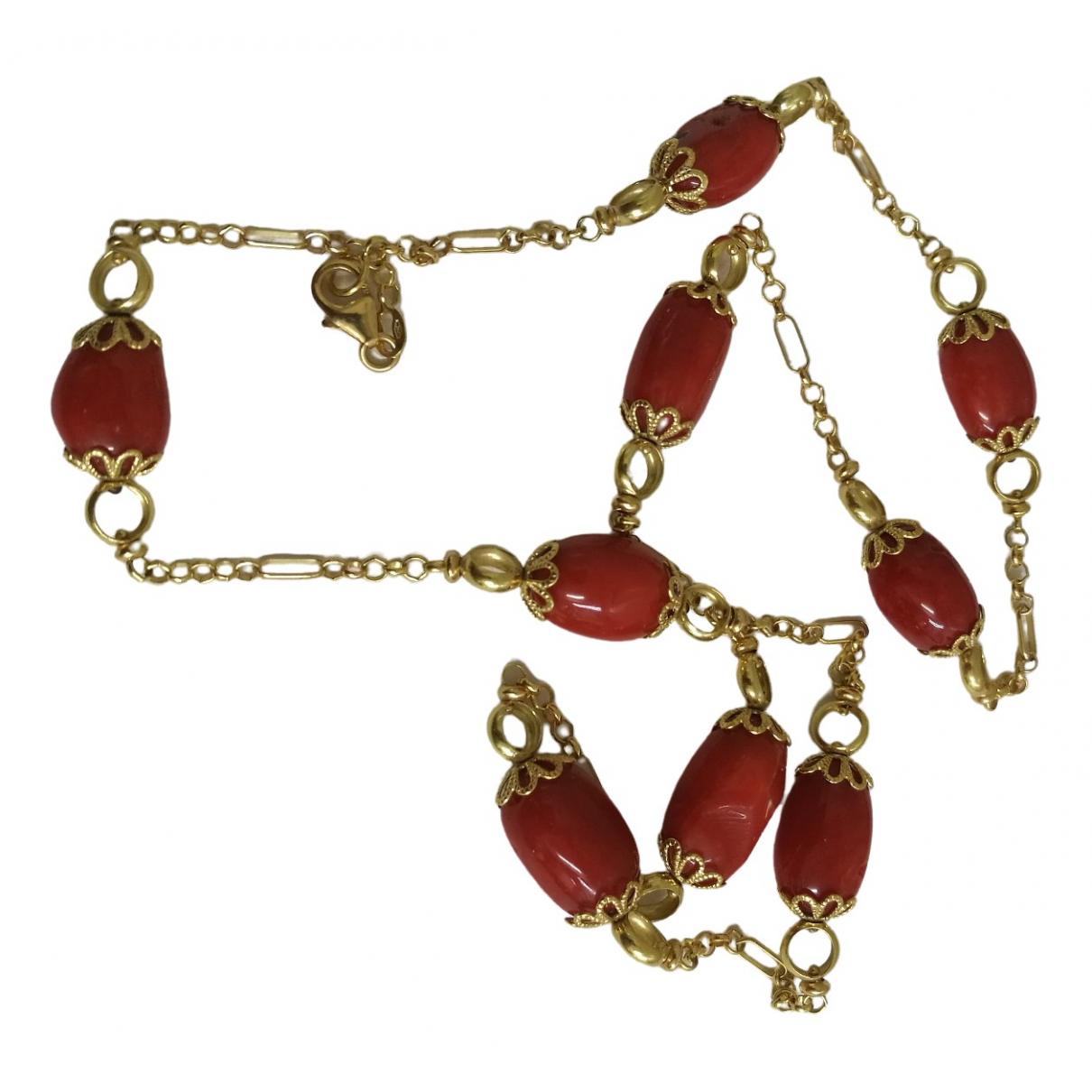 Collar Corail de Oro amarillo Non Signe / Unsigned