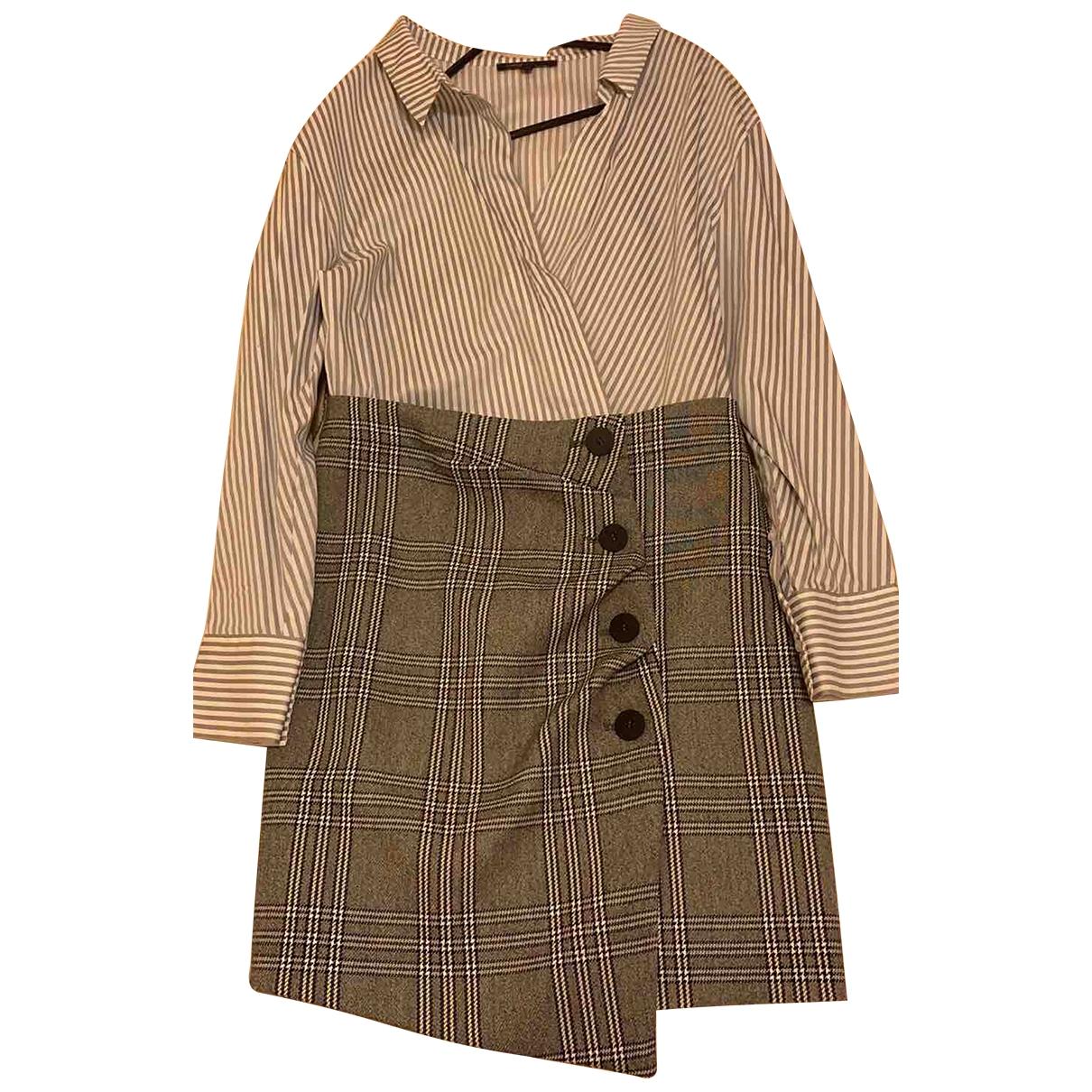 Maje Fall Winter 2019 Kleid in  Grau Baumwolle