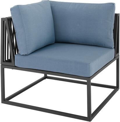 ORTRINCRBU Outdoor Modern Modular Patio Corner Chair in