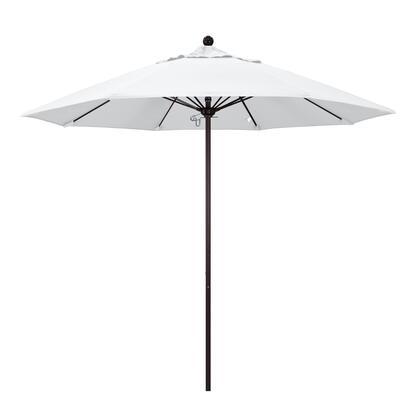 ALTO908117-5404 9' Venture Series Commercial Patio Umbrella With Bronze Aluminum Pole Fiberglass Ribs Push Lift With Sunbrella 1A Natural
