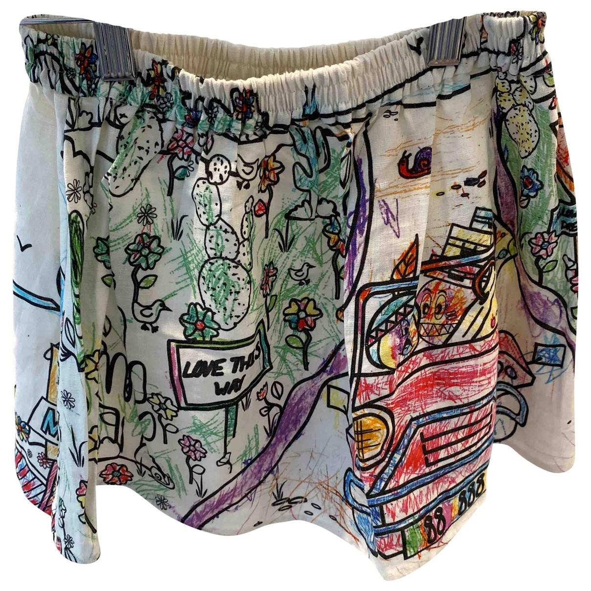 Mira Mikati \N Multicolour Linen skirt for Women 34 FR