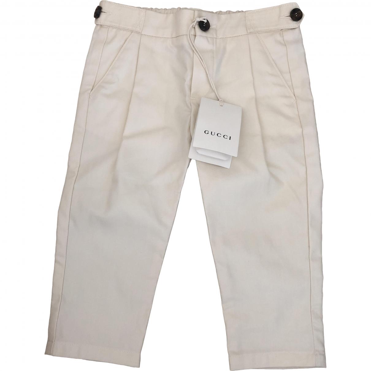 Gucci - Pantalon   pour enfant en coton - beige