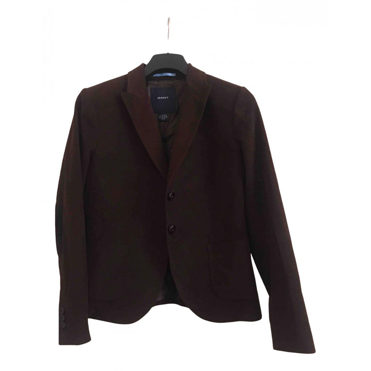 Gant N Brown Cotton jacket for Women 42 FR