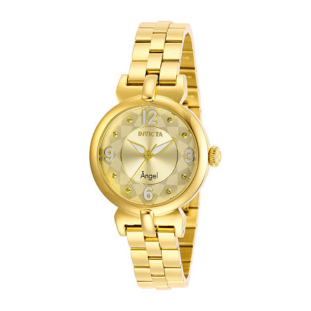 Invicta Angel Womens Gold Tone Stainless Steel Bracelet Watch-29146, One Size , No Color Family